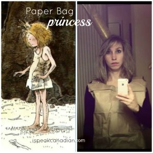 How to make a Paper Bag Princess costume (from the Robert Munsch story) for next to nothing.