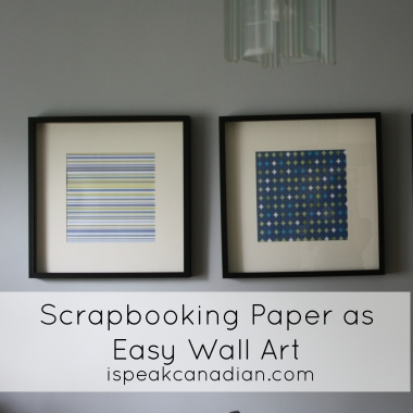 Scrapbooking paper as easy and cheap wall artwork. Great for students!