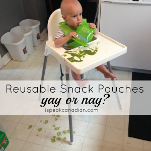 Is it worth it to buy reusable snack pouches and make your own puree?
