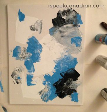 How to make your own (DIY) painted canvas abstract art for $5.