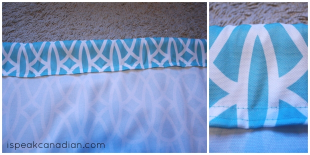 How to quickly make stain and wrinkle resistant curtains from tablecloths in less than an hour.