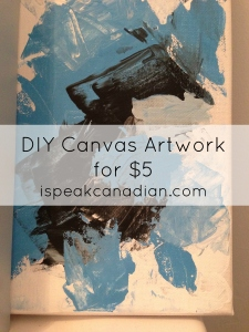 Add a splash of colour and class to your house on a SERIOUS budget with your own DIY canvas abstract art.