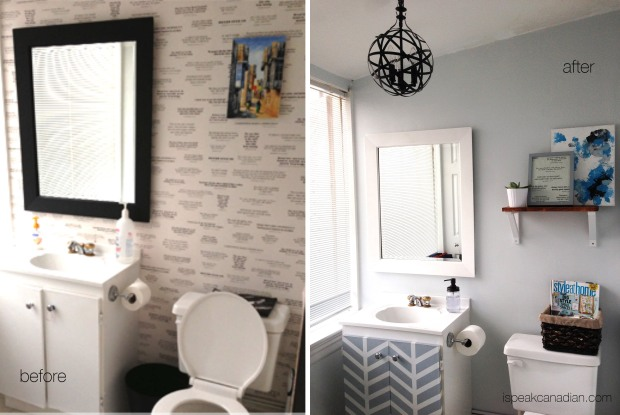 A quick, cheap bathroom makeover with less than $65 from @ispeakcanadian.